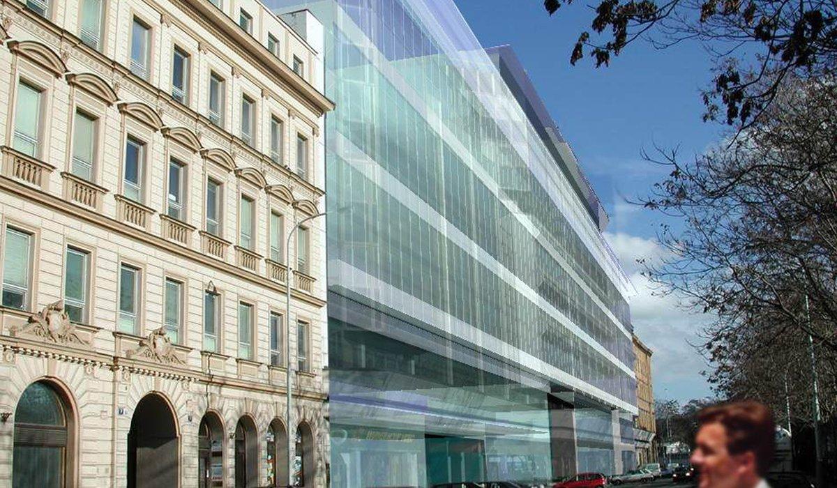 Prague financial center bose architects for Prague center